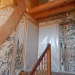 Entfernung der Treppe und Gerüstaufstellung für Zimmermannsarbeiten, 16.11.15
